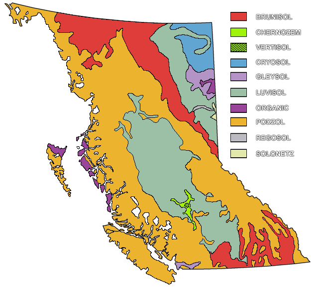 Soil Map of British Columbia
