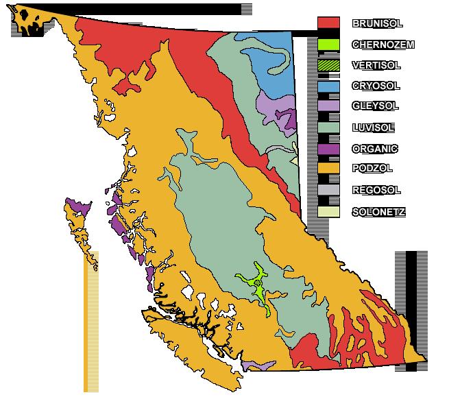 Soil Map of British Columbia